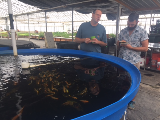 Aquaponics at the Center, A Wave of the Future and Garden of the Month